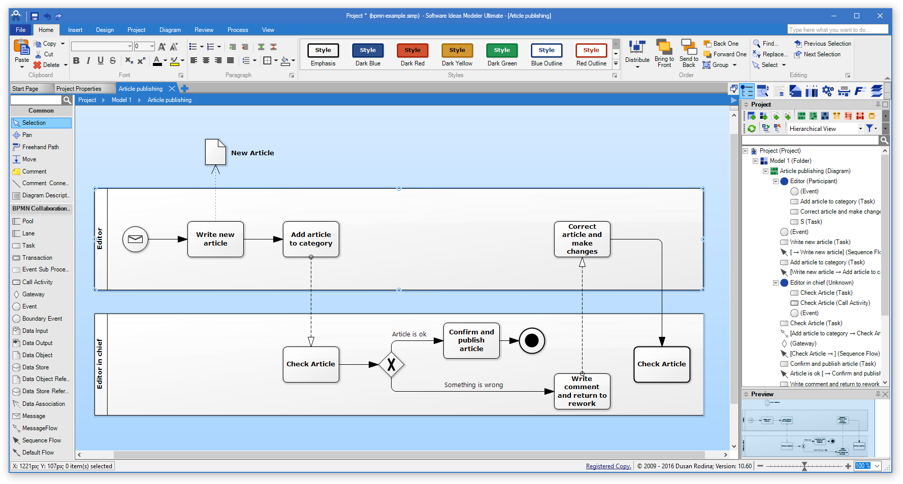 Software Ideas Modeler - Main Screen