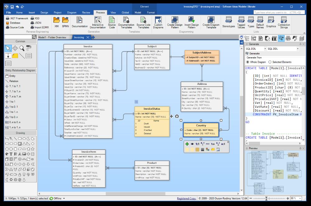 Erd Tool Data Modeling Software Software Ideas Modeler