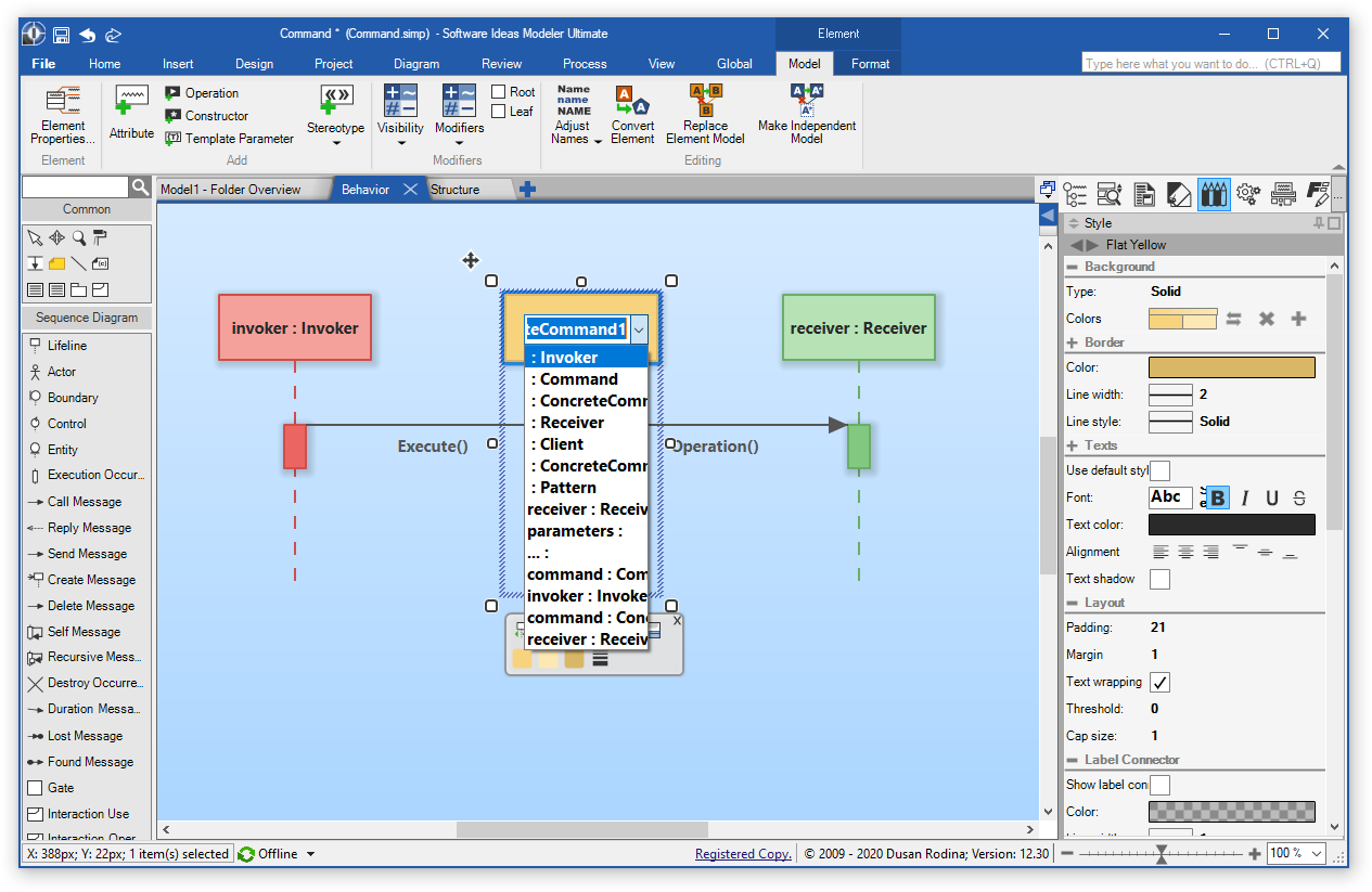 UML Sequence Diagram Editor