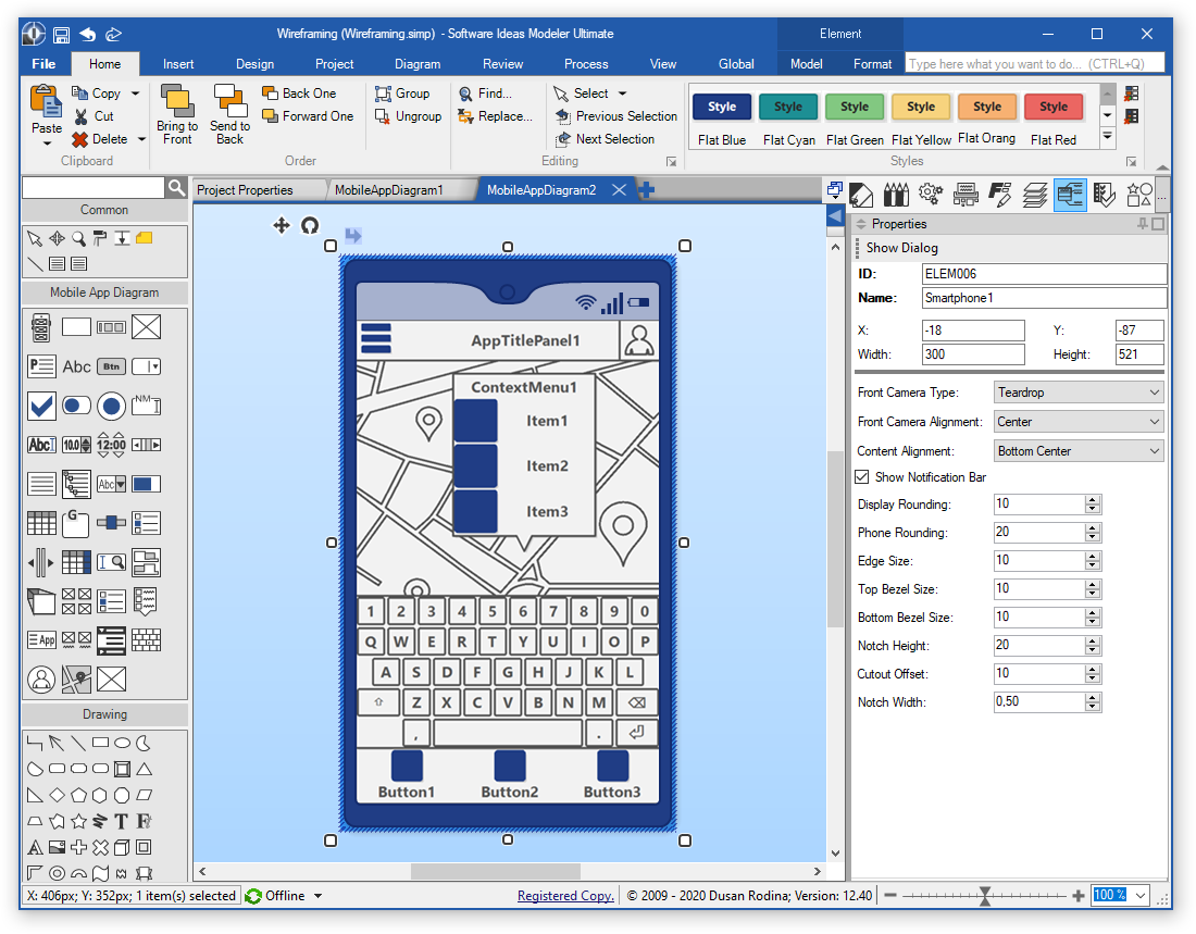 Mobile App Wireframe Editor