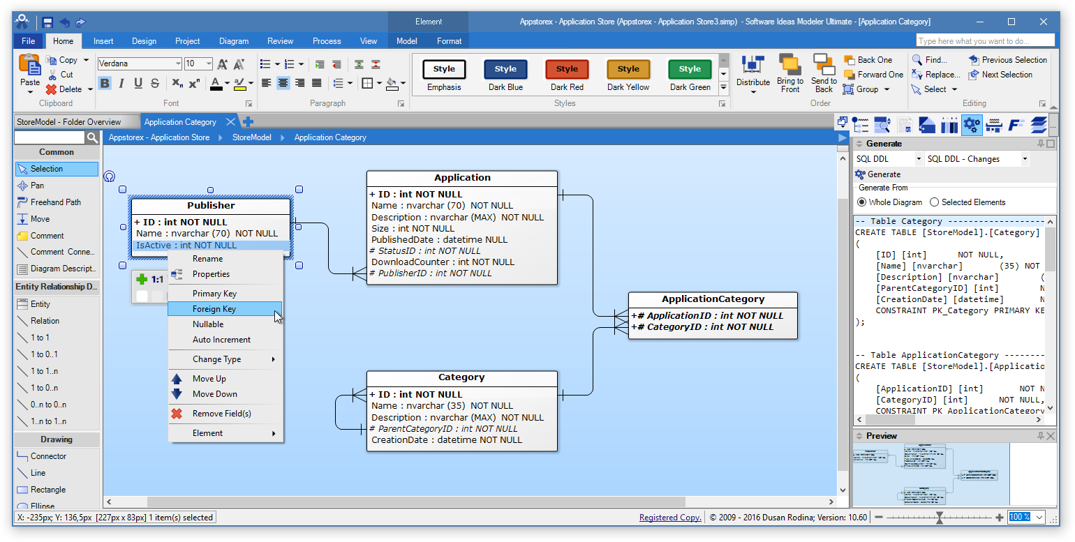 erd tool entity relationship software software ideas modeler Step by Step Diagram