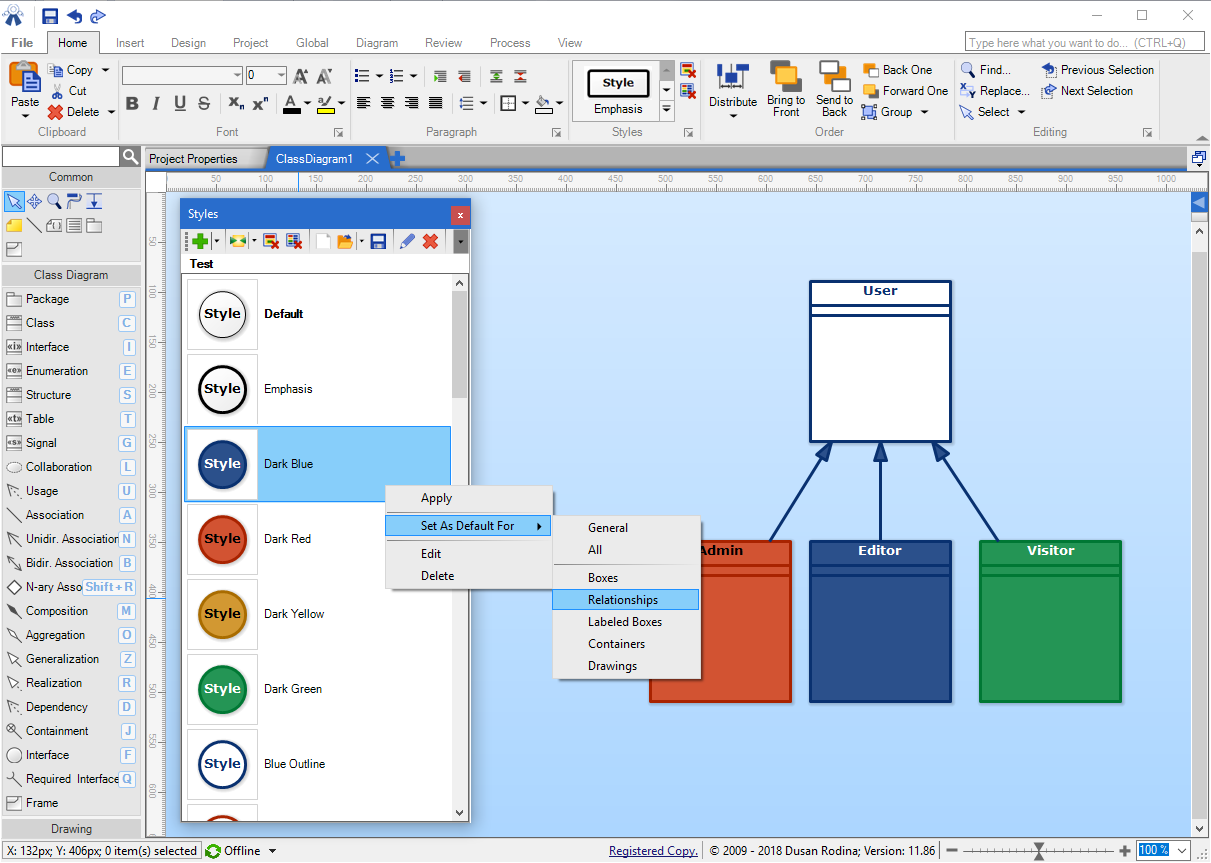 Software Ideas Modeler 11.86 - Improved Styling and Optimized Diagram Rendering