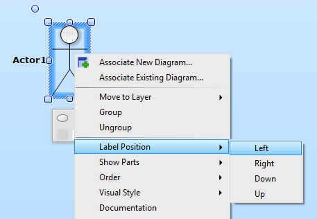 Label Positioning using Menu